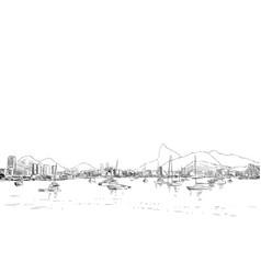 rio de janeiro brazl vector image vector image