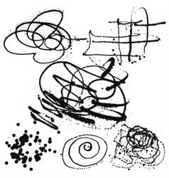 Splatter Black Ink Background collection set vector image