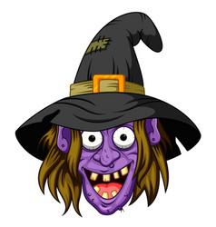 witch head cartoon vector image