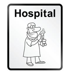 Hospital Information Sign vector image vector image