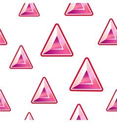 Triangle diamond background vector image