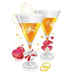 wedding symbols vector image vector image
