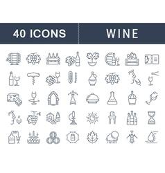 Wine Line Icons 6 vector image