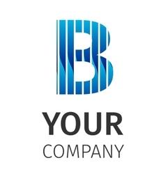 Abstract blue logo B vector image vector image