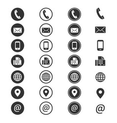 contact info icon vector image