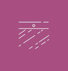 webcam on laptop icon a linear design element vector image