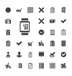 33 check icons vector