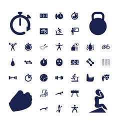 37 training icons vector