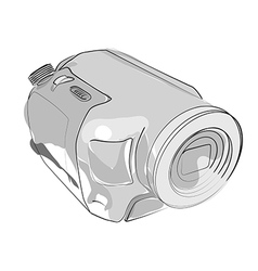 Abstract camcorder on white vector