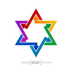 Abstract design element spectrum star on white vector