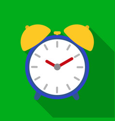 alarm clock icon in flat style isolated on white vector image