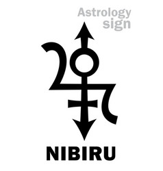 Astrology orphan planet nibiru vector