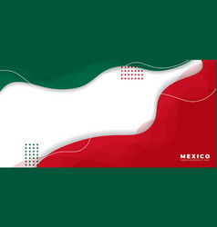 Background for mexico independence day with green vector