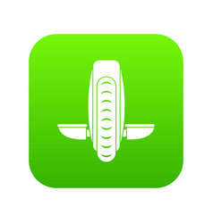 Balance vehicle icon digital green vector