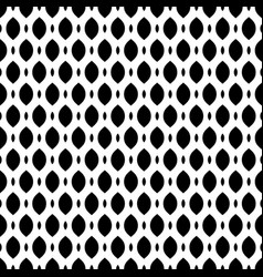 Black and white seamless pattern of mesh lattice vector