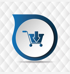 blue cart icon geometric background image vector image