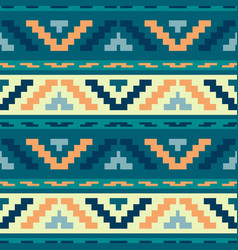 blue stripped tribal geometric pattern vector image