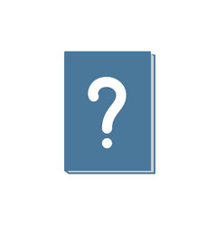 Book icon with question mark vector