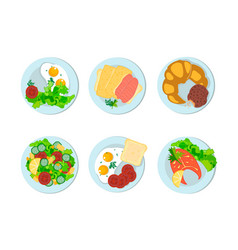 breakfast different peoples of the world vector image