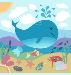 bright of underwater life vector image