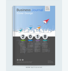 Business journal cover design template vector