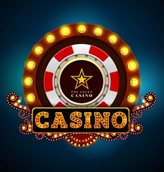 casino light sign vector image