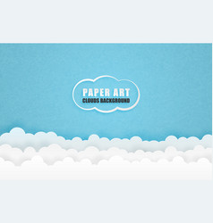Clouds background in paper cut style digital vector