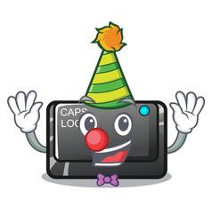 Clown capslock button isolated with cartoon vector