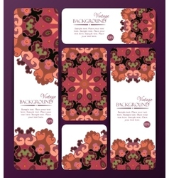 collection colorful banners and business cards vector image