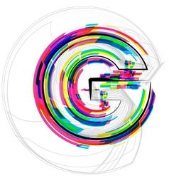 Colorful Font Letter G vector