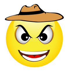 cowboy yellow emoticon vector image