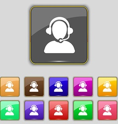 Customer support icon sign Set with eleven colored vector