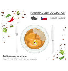 Czech cuisine european national dish vector