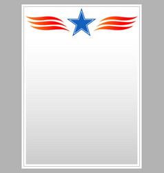 Decorative american star patriotic border vector