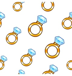 Diamond ring background vector