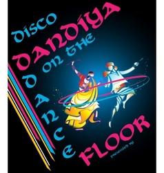 Disco Dandiya vector image