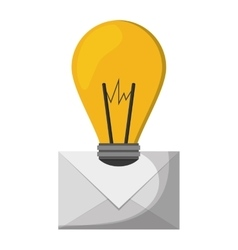 Email idea illumination inspiration vector