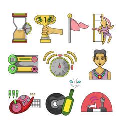 finish clip art set clip art vector image
