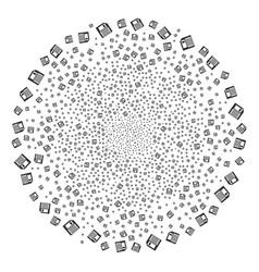 Floppy disk fireworks sphere vector
