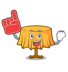 Foam finger table cloth mascot cartoon vector