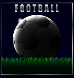 football soccer ball green grass abstraction vector image