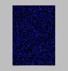 Geometric dot pattern flyer template background vector
