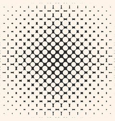 geometric halftone seamless pattern with circles vector image