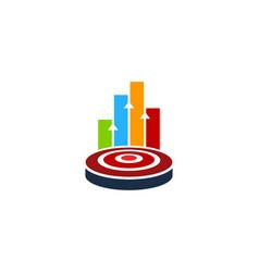 graph target logo icon design vector image