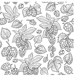 Graphic hops pattern vector