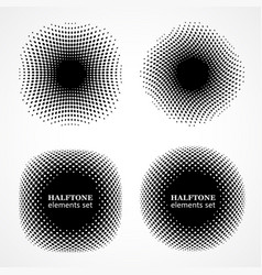 halftone design elements halftone circles vector image