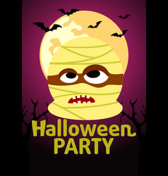 Halloween party banner with mummy vector
