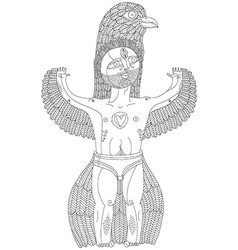Hand drawn graphic of weird creature cartoo vector