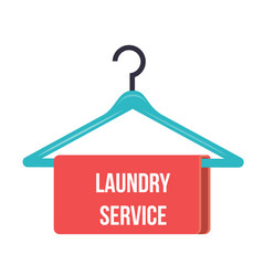 hanger with the inscription laundry service vector image