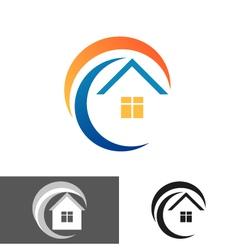House home logo icon vector